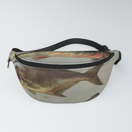 Illustrated Grocers Colorful Saltwater Game Fish Identification Chart Fanny Pack