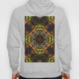 Abalone shell with a geometric kaleidoscopic design Hoody