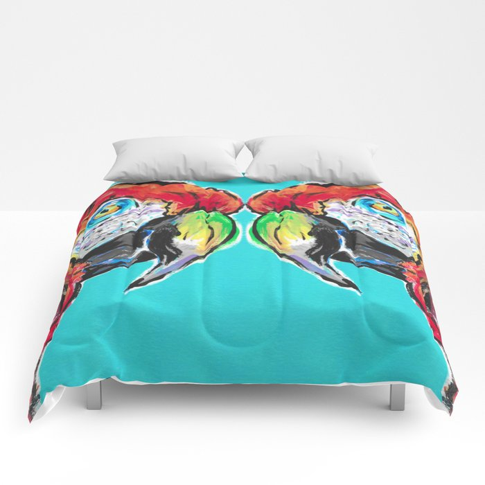 Parrot Macaw Ca-caw Comforters
