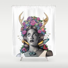 Flowered Prongs Shower Curtain
