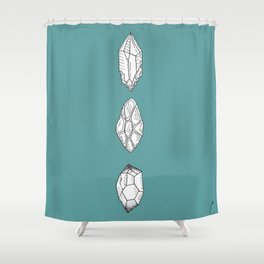 Crystals Trio Design Shower Curtain