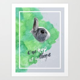 One hop at a time Art Print