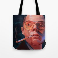fear and loathing Tote Bags featuring Fear & Loathing by RileyStark