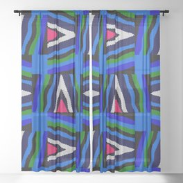 Bold Colorful Stripes Sheer Curtain