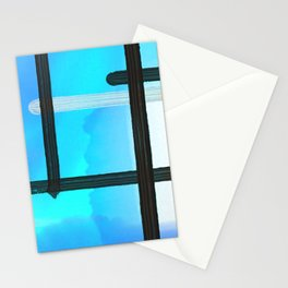 Sky Blue Watercolor Abstract Stationery Cards