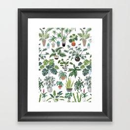 plants and pots pattern Framed Art Print