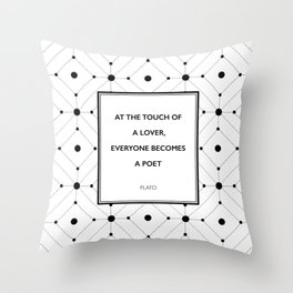 Plato - Touch of a Lover Throw Pillow