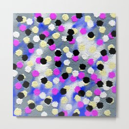 Dotts and texture Abstract Pattern Metal Print