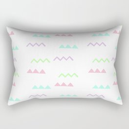 Abstract pink teal minimalist geometrical pattern Rectangular Pillow
