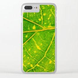 Macro Leaf 3 Clear iPhone Case