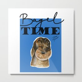 Bagel Time Metal Print
