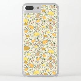 Capybara Pattern Clear iPhone Case