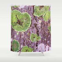 Tree Bark Pattern with Lichen #7 Shower Curtain