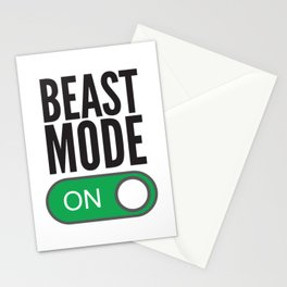 BEAST MODE ON Stationery Cards