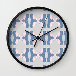 Ikat pastel pattern Wall Clock