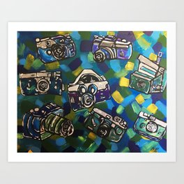Cameras 101 Art Print