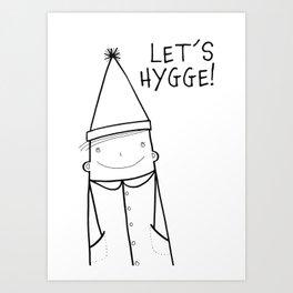 Scandinavian Hygge illustration art Art Print