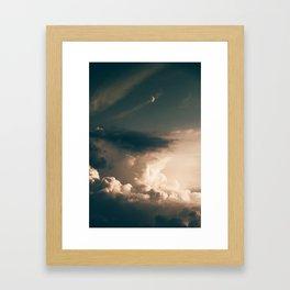 Golden Dusk Sky (Color) Framed Art Print