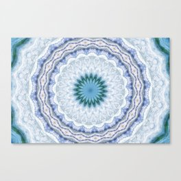 SUMMER BLUE - OCEAN AND SUNSHINE PATTERN Canvas Print