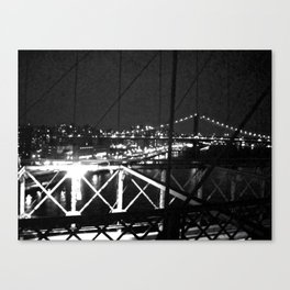 WHITEOUT : Standing 'Top the Bright Lit City Canvas Print