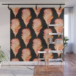 Heliconia black Wall Mural