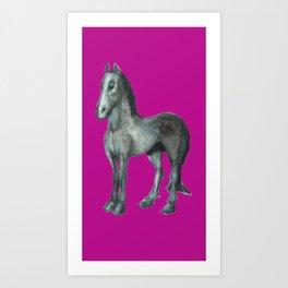Noble Steed (purple) Art Print