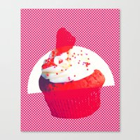cupcake Canvas Prints featuring Cupcake by Mr and Mrs Quirynen