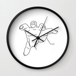 Grabbing Wall Clock