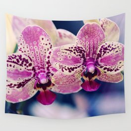 Close up Orchid #10 Wall Tapestry