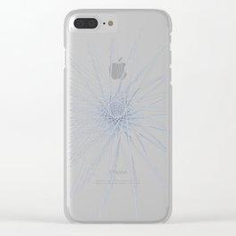 Pi fractal star Clear iPhone Case