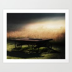 Sunrise on the Wagon Art Print