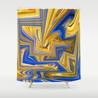 alchemy Shower Curtains featuring Attempted Alchemy by David  Gough