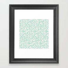 Shoes Mint on White Framed Art Print