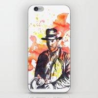 indiana jones iPhone & iPod Skins featuring Indiana Jones by idillard