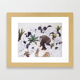 The Joy of Sex and Indoor Gardening Framed Art Print