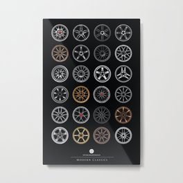 Modern Classics of Wheel Design Metal Print