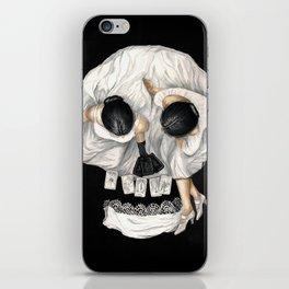 Tarot Reader Girl - Optical Illusion Skull iPhone Skin