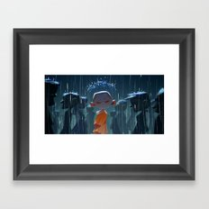Monk in modern times Framed Art Print