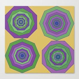 Unbalanced octagon yellow Canvas Print