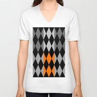 orange pattern V-neck T-shirts featuring Pattern orange by LoRo  Art & Pictures