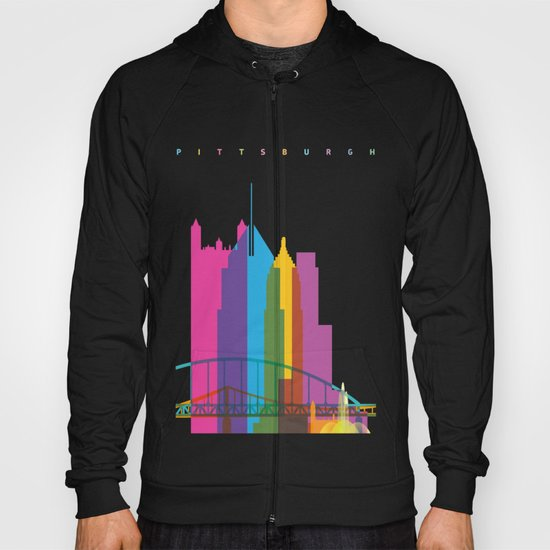 Shapes of Pittsburgh. Accurate to scale Hoody