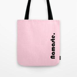Namaste Yoga Print in Light Pink Tote Bag