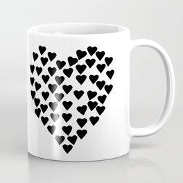 Hearts Heart Black and White Coffee Mug