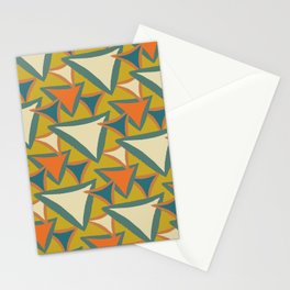 Decades Young 70's Living Room Triangles Stationery Cards