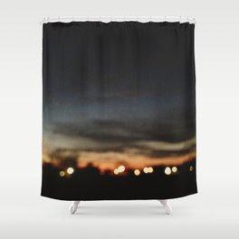 Lights on the Horizon Shower Curtain
