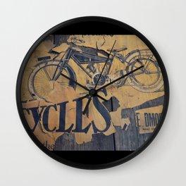 Cycles Vintage Poster Wall Clock