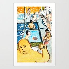 kyoto sento public bath Art Print