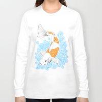 koi fish Long Sleeve T-shirts featuring Koi fish  by Art & Be