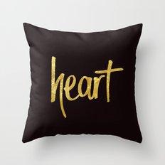 Heart Handwritten Type Throw Pillow