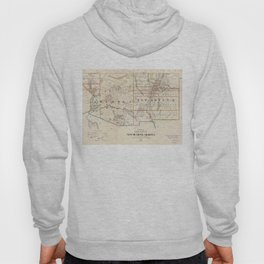 Vintage Map of Arizona and New Mexico (1866) Hoody